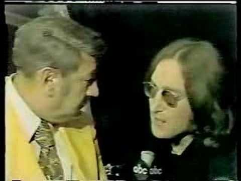 "John Lennon on Monday Night Football 1974 - . I always remembered his line as ""You never know, Howard, you never know."" He actually left out Cosell's name. But I never forgot that...and always hoped his words would come true...and then, December 1980 came. What could have been. :-("
