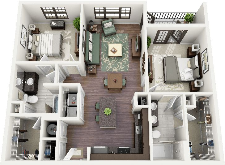 Apartment Floor Plans 2 Bedroom sp_2br_fp small 2 bedroom apartment floor plan on floor plans for 20x60 house 17 Best Images About Sims 3 On Pinterest Apartment Floor Plans