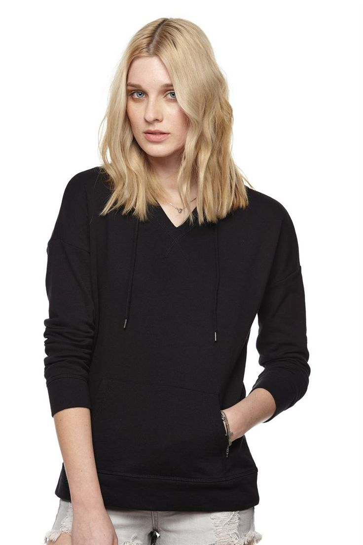 bonnie v hooded pullover - Cotton On http://shop.cottonon.com/shop/product/bonnie-v-hooded-pullover-black/