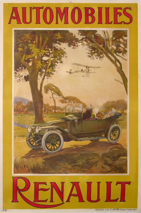 'Automobiles Renault' by Louis Foret, 1907