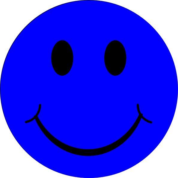 Blue Smiley Face clip art - vector clip art online, royalty free ...