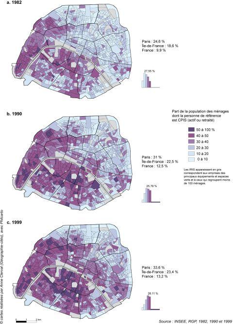 Les dynamiques spatiales de la gentrification à Paris