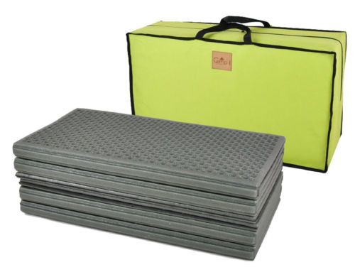 Camping Tent Mattresses Outdoor Bed Exercise Fitness PE Big Size 1+1 Mat 2pc