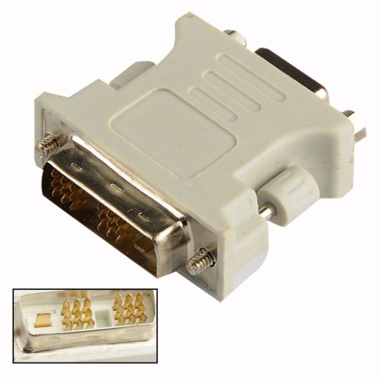 2016 Nueva VGA Hembra A Macho DVI-D Single Link DVI 18 + 1 Pin Adaptador Para Tarjeta Gráfica EL5103