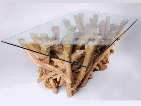 Amaris Elements VIDA0034 Couchtisch Treibholz Glas