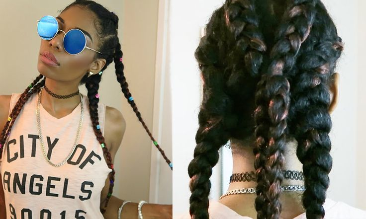 FESTIVAL HAIR! : NATURAL PROTECTIVE HAIRSTYLE (BRAID EXTENSIONS) + REVIEW