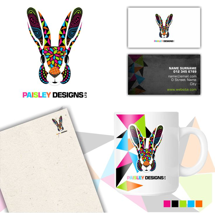Corporate Identity Designed by Mari Basson. A colourful, patterned logo reflecting the company's diversity and creativity.