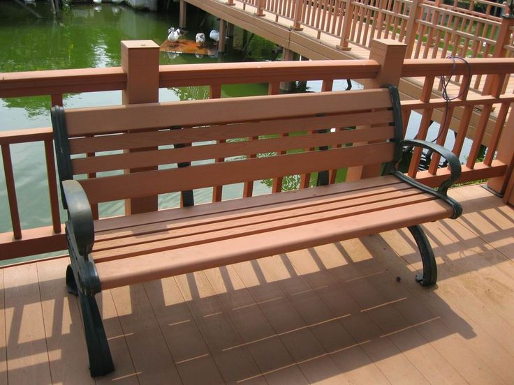 buy environment friendly park benches,diy plastic decking and benches with backrest