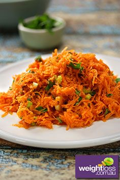 French Carrot Salad Recipe. #CarrotRecipes #DietRecipes #SaladRecipes #WeightLossRecipes weightloss.com.au