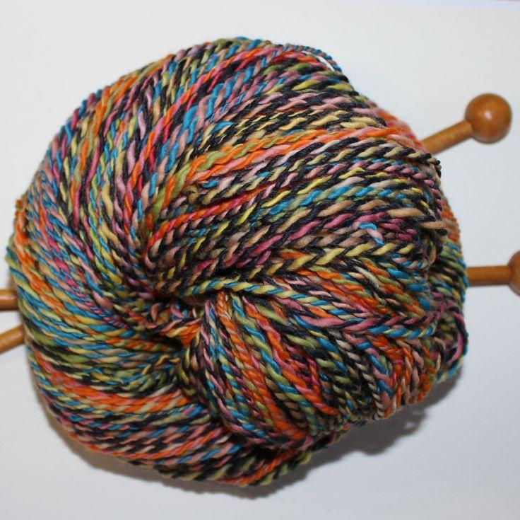 handspun yarn - 2ply, wool