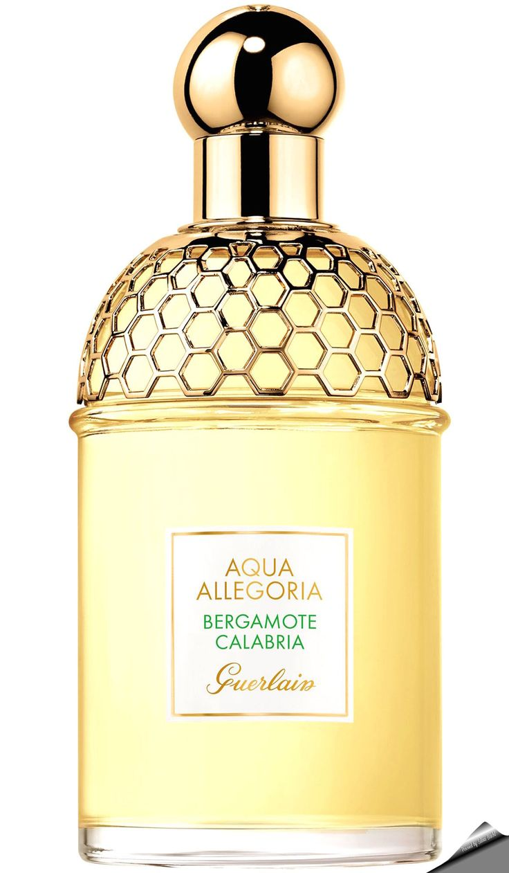 "Guerlain Aqua Allegoria ""Bergamote Calabria"" for women and men. Created by Thierry Wasser and Delphine Jelk the top notes are calabrian bergamot and petitgrain; middle notes are cardamom and ginger; base notes are woody notes and white musk."