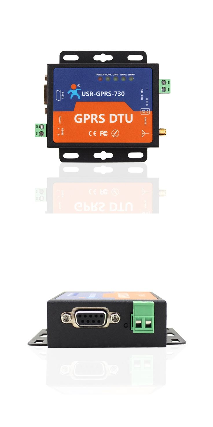 Fast Free Ship GPRS DTU Serial Port Turn GSM232/485 485 interface SMS passthrough|base station positioning USR-GPRS-730