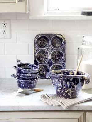Bennington Potters in Vermont (we have this batter bowl & love it!) | Made in America - Country Living
