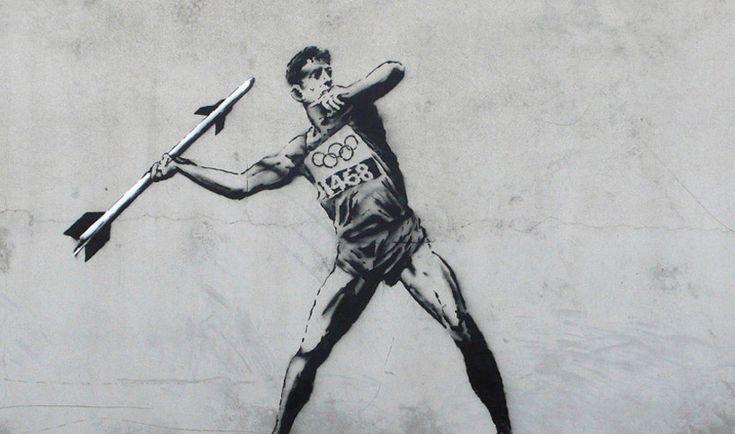 Banksy's  2012 London Olympic streetart
