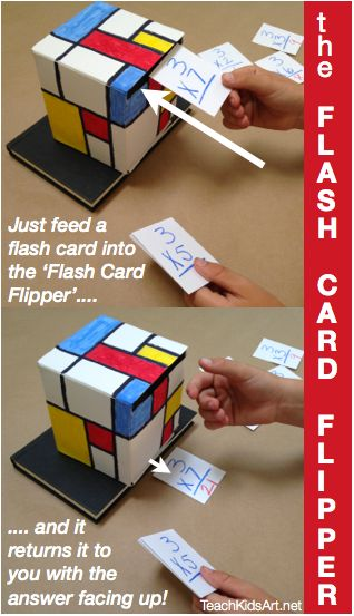 """Make learning fun for kids with this """"Flash Card Flipper"""" educational craft activity!"""