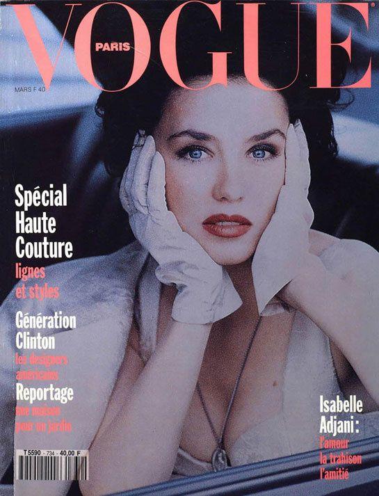 Isabelle Adjani pour le numéro de mars 1993 de Vogue Paris-Dominique Issermann-Dior