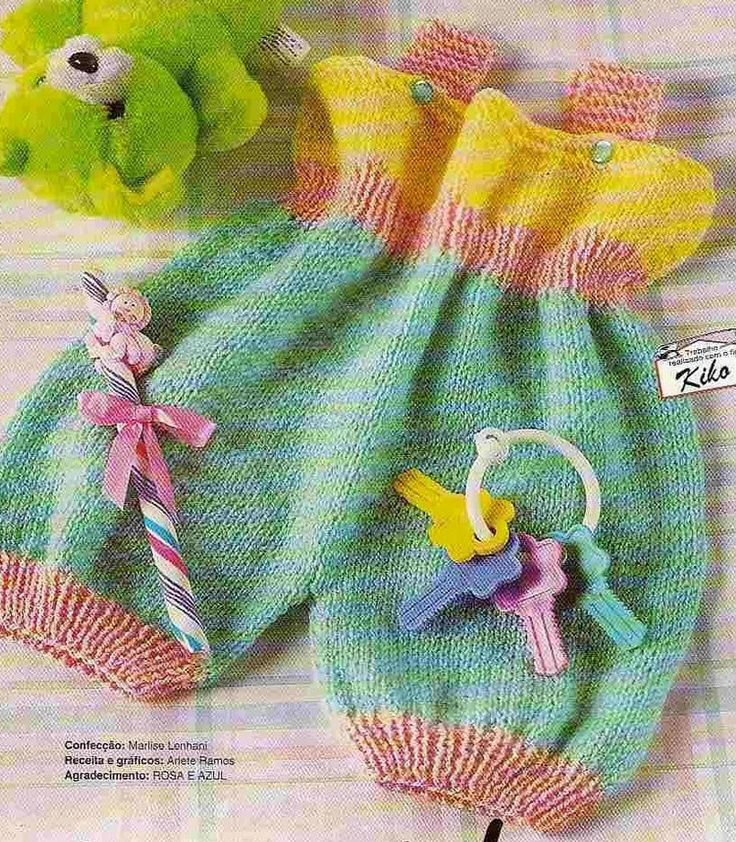 Macaquinho em tricô para bebê tam 0 a 2 meses receita