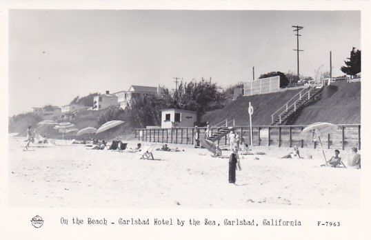 RP: Beach , Carlsbad Hotel by the Sea , CARLSBAD , California, 30-40s ; FRASHER