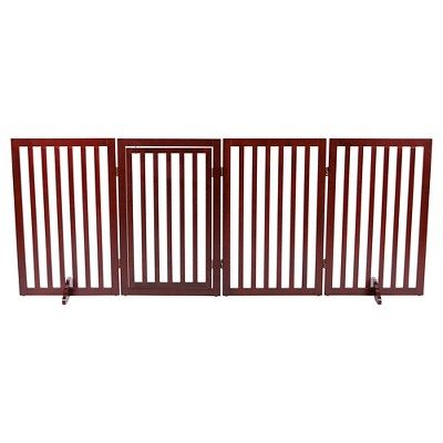 Trixie Pet Products Convertible Wooden Dog Gate, Brown