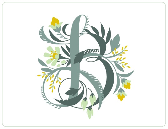 Floral Alphabet by Jill De Haan, via Behance