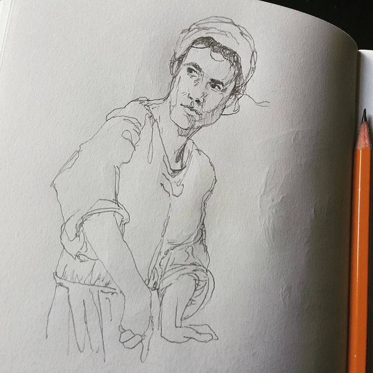 Кухарка. У меня многие женщины чуть-чуть мужчины. Пока что не умею смягчать черты лица. Нужно будет детей портировать.  #drawing #illustration #portrait #sketch #pencil #sketchbook #art #artwork #painting #eskiz #портрет #рисунок #карандаш #набросок #эскиз