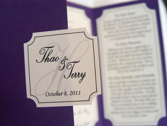 39 best Custom Designed Wedding Programs images on Pinterest