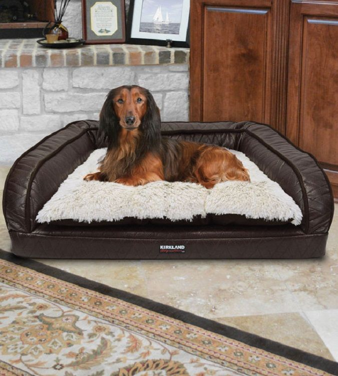 This Kirkland Signature Pet Bed Features A Foam Filled