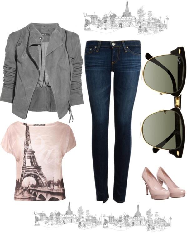 Ik hou van Parijs en toon dat met mijn kledij.