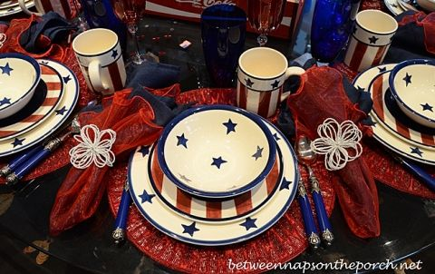 Red, White and Blue Dishware for Patriotic Holidays