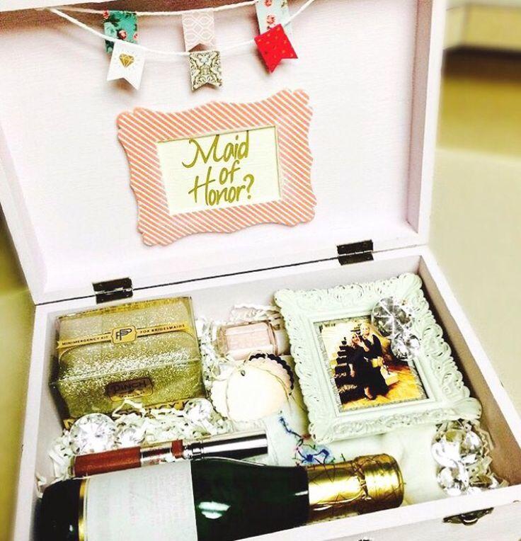 Gift Ideas Housekeeper: Maid Of Honor Box Bridesmaid Box DIY Will You Be My Maid