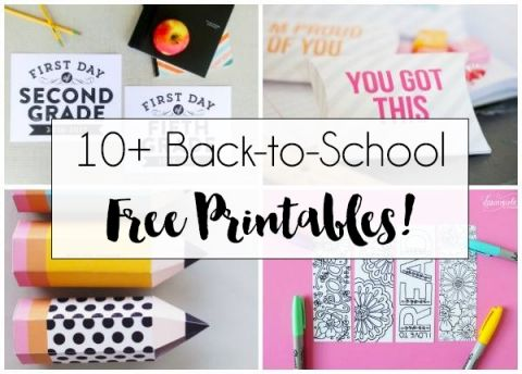 10+ Back to School Printables