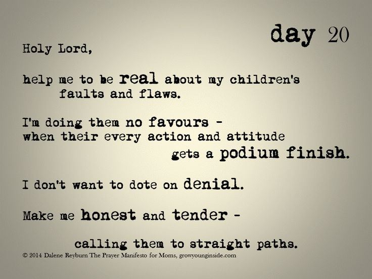 day 20 of The Prayer Manifesto for Moms