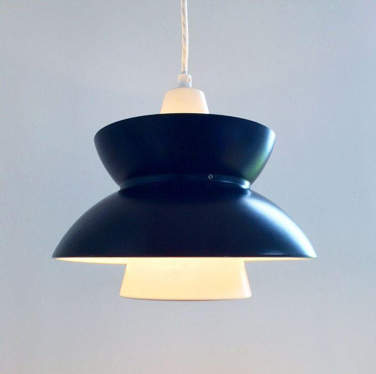 Beautiful danish navy pendant lighting from Louis Poulsen by Deerstedt on Etsy