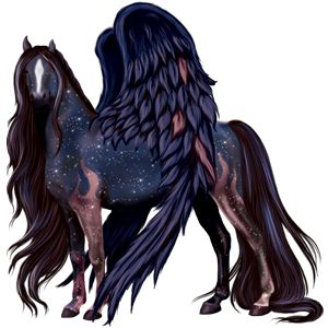 Curtain at Dusk, Pegasus Friesian Black #96632 - Howrse US