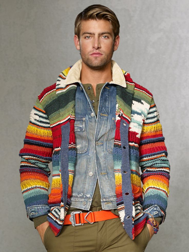 Shawl-Collar Serape Cardigan - Cardigan & Full-Zip Sweaters - RalphLauren.com
