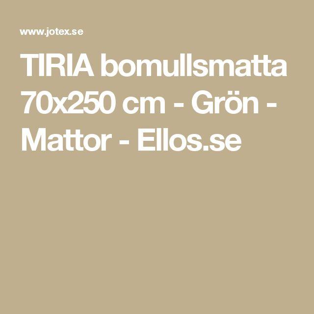 TIRIA bomullsmatta 70x250 cm - Grön - Mattor - Ellos.se