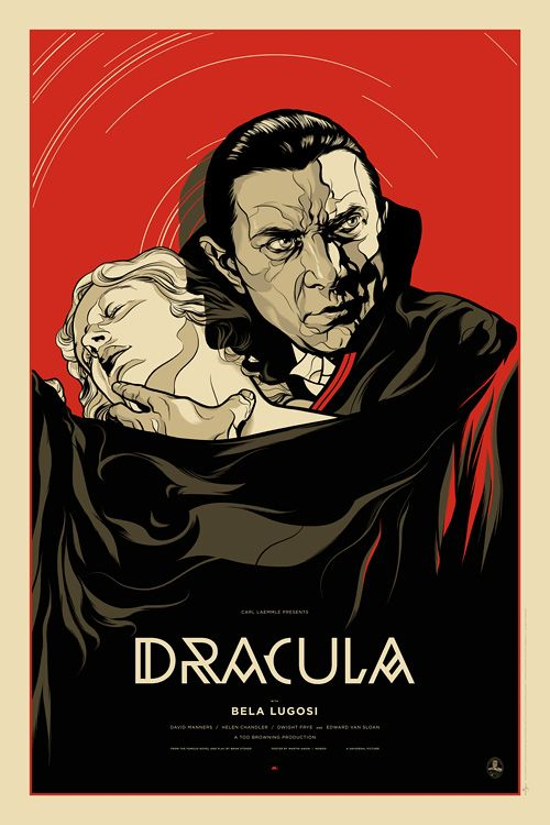 Dracula | The Alamo Drafthouse Limited edition screenprinted poster for the…