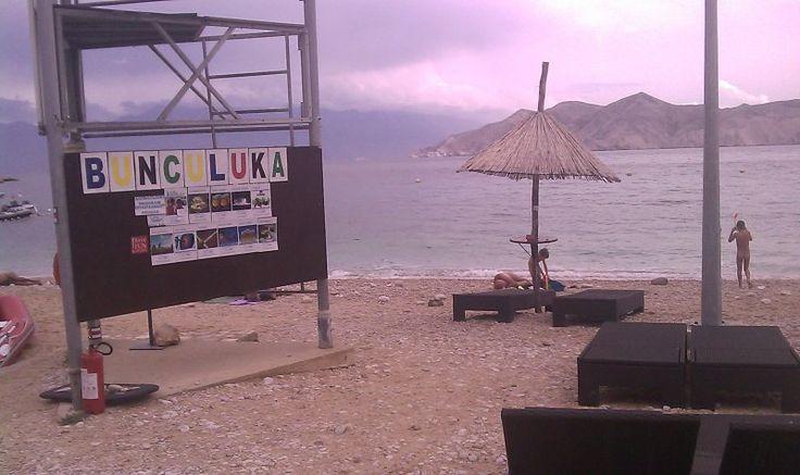 Plaża naturystyczna na campingu FKK Bunculuka