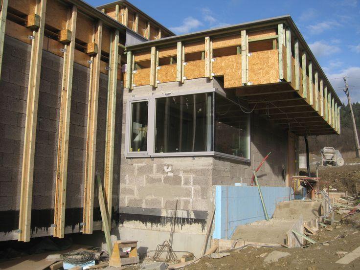 Konštrukcia fasády pred aplikáciou tepelnej izolácie