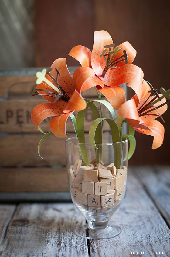 DIY Paper Tiger Lily   Lia Griffith