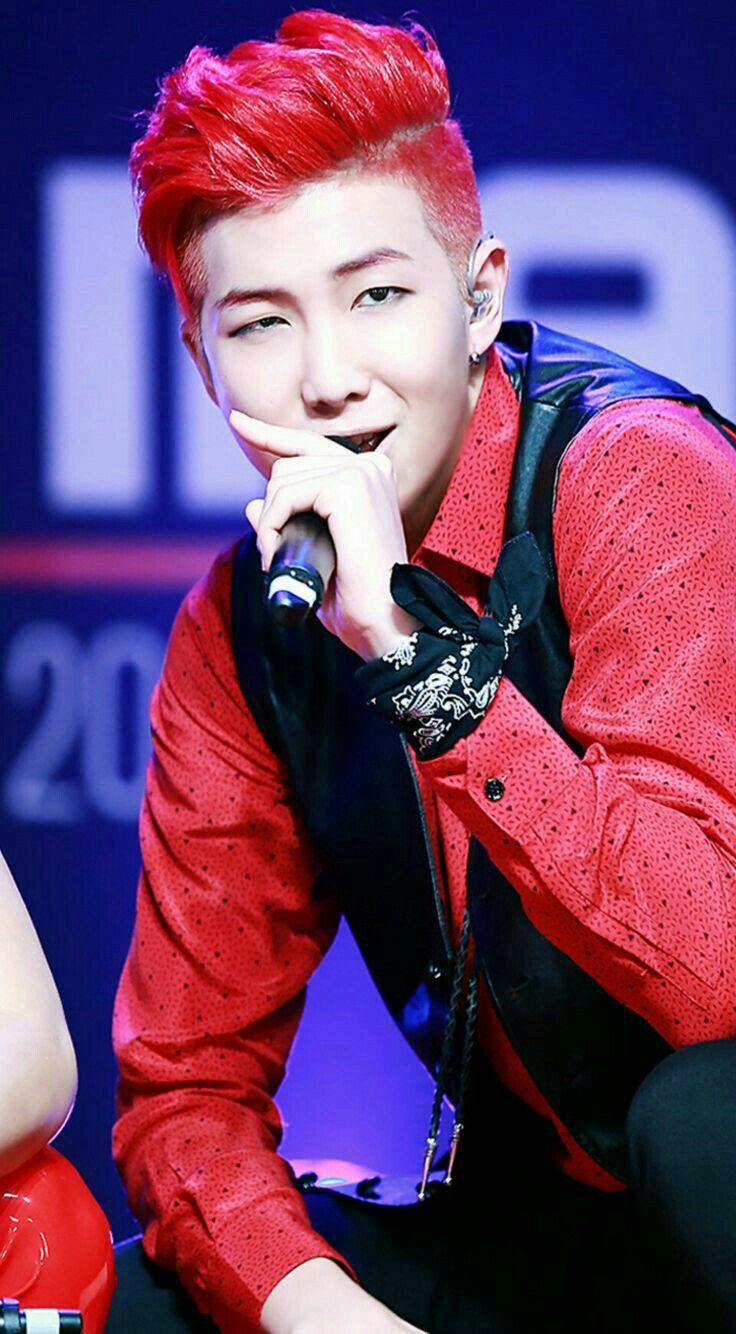 Pin By 𝐘𝐨𝐨𝐧𝐠𝐢 On Bts Namjoon Red Hair Kim Namjoon