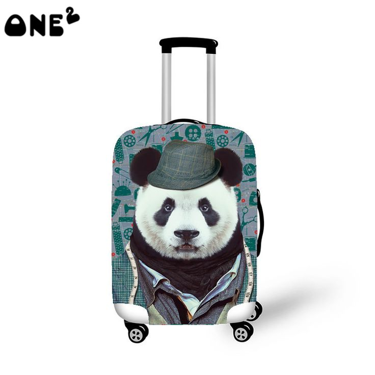 2016 ONE2 Design panda pattern printing cover apply to 22,24,26 inch waterproof eminent animal luggage cover for teenage girls