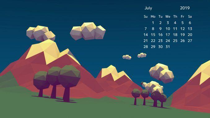 Awesome Free July 2020 Desktop Calendar Wallpaper Download
