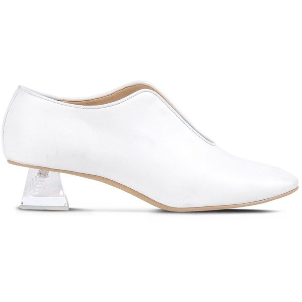 Stella McCartney Perspex Heeled Slipper (2.195 BRL) ❤ liked on Polyvore  featuring shoes,