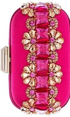 {Hot Pink Pucci Jeweled Clutch}