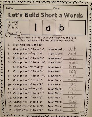Teaching With Love and Laughter: Sharing My Station Board and a Word Building Activity