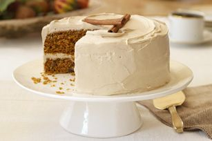 Pumpkin-Carrot Cake with Brown Sugar Icing