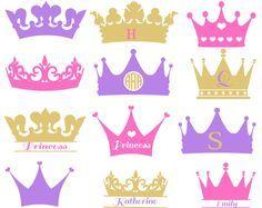 Svg Svg de monograma corona, princesa Crown Svg, coronas Svg, imágenes prediseñadas de la corona, archivo de corte de la corona de la corona, silueta Vector, vector Eps de DXF de SVG de la corona.