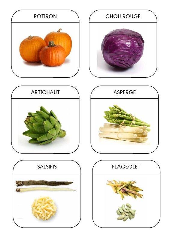 Imagier du jardin - Les légumes 4