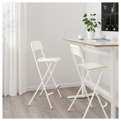 Franklin Chaise De Bar Pliante Blanc Blanc Chaise Bar